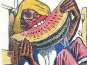 A Negro enjoying his favorite food