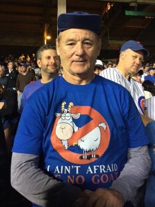 bill murray cubs tshirt goat